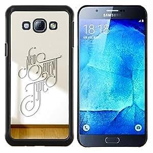 """Be-Star Único Patrón Plástico Duro Fundas Cover Cubre Hard Case Cover Para Samsung Galaxy A8 / SM-A800 ( Diferente Tipografía"""" )"""