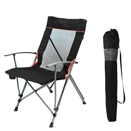 Amazon.com: Portable Camp Chair, Folding Chair High Back with Carry ...