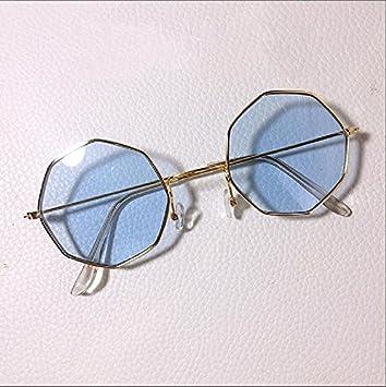Sunyan Nuevo tipo de ronda multilateral gafas de sol, metal ...