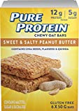 Pure Protein Sweet & Salty Peanut Butter Chewy Oat Bar 6 Count