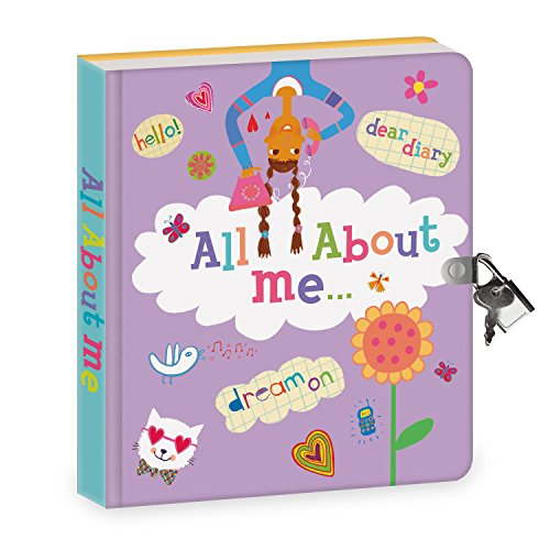 Peaceable Kingdom All About Me 6.25' Lock and Key, Lined Page Diary for Kids