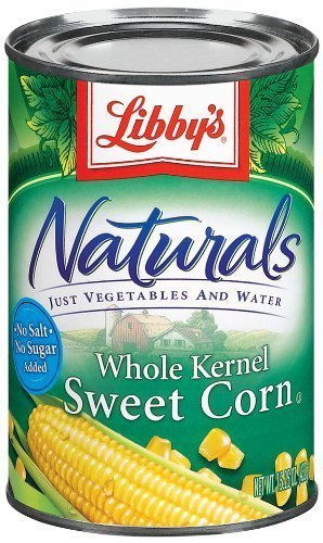 Libby's Naturals Whole Kernel Sweet Corn 15oz Cans (Pack of 6) by Libby's