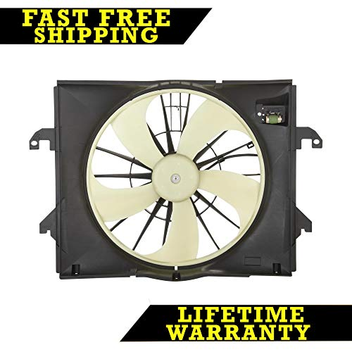Radiator Condenser Cooling Fan For Dodge Fits Ram 1500 3 7 V6 6cyl Ch3115164