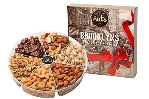 Call Me Nuts- Gourmet Gift Nuts Tray (2 Lb) Delicious, Kosher Salted Almonds, Cashews, Walnuts, Pistachios, Honey Glazed Pecans and Mixed Nuts. Perfect for Christmas and All Special Occasions