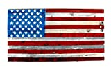 "Cheap Wooden American Flag Wall Hanging Display US Flag Red White and Blue Hand-Made from Refurbished Barnwood 48""x27"" 4th of July"