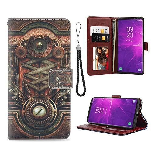 Samsung Galaxy Note 9 Phone Wallet Case Vintage Steampunk Steam Engine TPU Leather Flip Cover with Card Slot Wallet Case for Samsung Galaxy Note 9