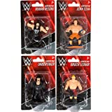 fb Set of 4 WWE Action Wrestling Figures. Stars John Cena, The Undertaker, Roman Reigns, Brock Lesner. Cupcake Top Wrestlers.