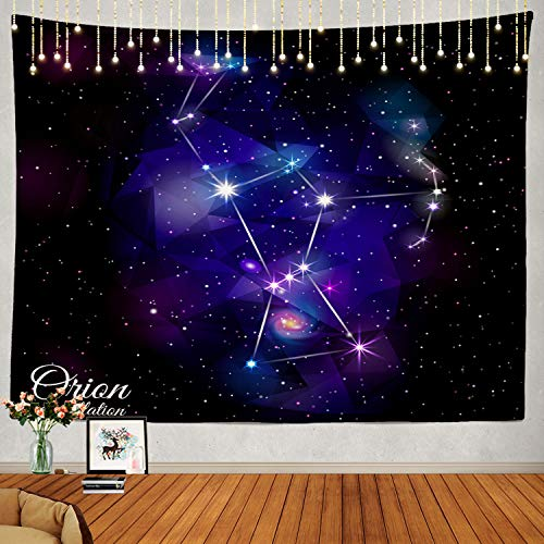 Shrahala Constellation Tapestry, Orion Nebula Cosmic Galaxy Space Universe Wall Hanging Large Tapestry Psychedelic Tapestry Decorations Bedroom Living Room Dorm ()