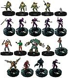 Heroclix Teenage Mutant Ninja turtles TMNT C/UC 1-18 Complete Minature Figure Set w/ Ability Cards