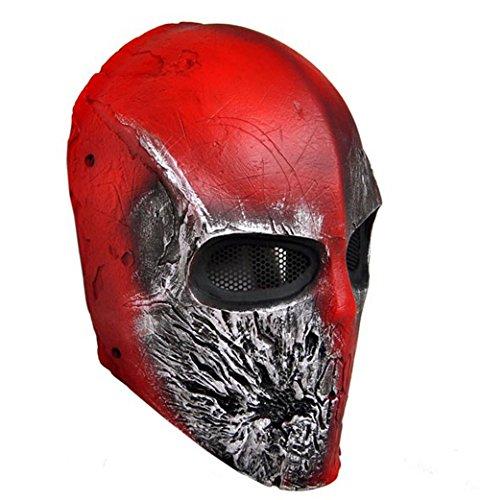OSdream CS Protection Mask Halloween Mask Full Face Mask for Airsoft , BB Gun and Paint Ball (500fps Airsoft Guns)