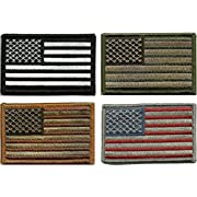 Amazon Lightning Deal 100% claimed: Prohouse Bundle  - Tactical USA Flag Patches - Multi-colored by TMTC Tactical Gear Four American Flag Patches, Black/Green/Brown/Red, 4 Piece