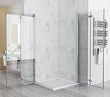 100 X 80 X 197 Cm Mampara de ducha esquina. Puerta plegable ducha ...
