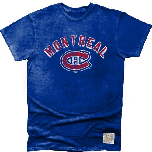 Original Retro Brand NHL Montreal Canadiens Men's Cotton Oil Wash Tee, XX-Large, Royal
