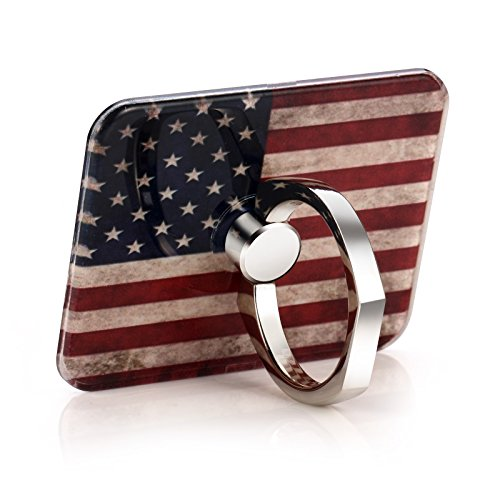 FEEGO Phone Ring Stand Holder for iPhone Samsung Hua wei Tablets and iPads The USA Flag Background