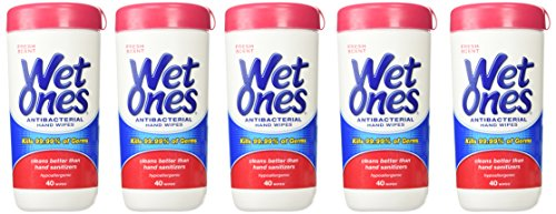 Wet Ones Fresh Scent Anti-Bacterial Wipes, 40 each (Value Pack of 5) ()