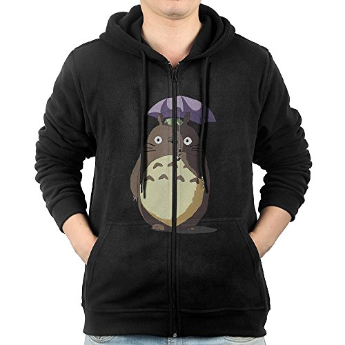 Akagopstore Casual Mens My Neighbor Totoro Full-Zip Sweatshirt Hoodie Jacket Medium Seersucker Zip Jacket