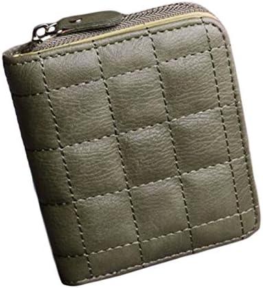Black Temptation Mini-Portemonnaie Kurzgeldbörse mit Reißverschluss-Beutel-Karten-Kasten-Grün