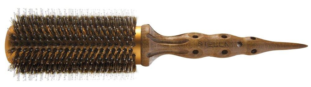 Enso Stella Premium Hair Brush Boar Bristles Wooden Beechwood Handle 63 mm Size 7