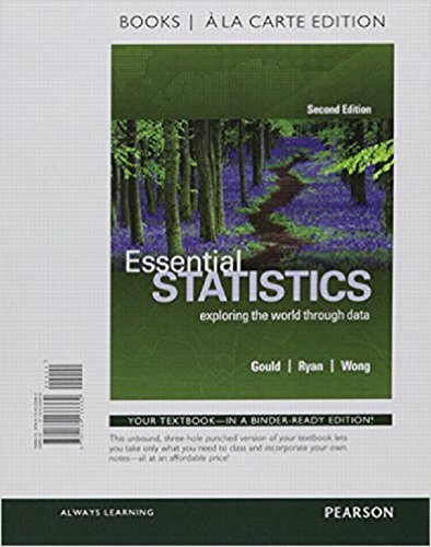 Essential Statistics  Books A La Carte Edition Plus Mystatlab With Pearson Etext    Access Card Package  2Nd Edition