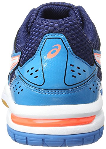 Gel 7 Coral Flash blue Bleu Pour Volleyball Jewel rocket Chaussures White Femme Asics De qf6HX6