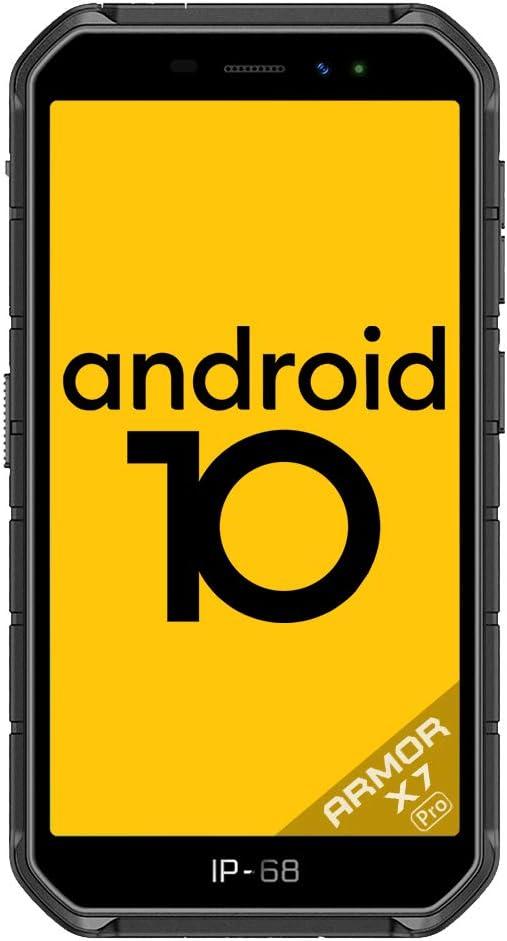 Ulefone Armor X7 Pro (2020),4G Android 10 Móvil Libre Resistente, Telefonos Robusto (4GB + 32GB) 5.0''HD, IP68 Impermeable Smartphone,Dual Cámara 4000mAh batería, NFC/OTG/GPS/Facial ID,Negro