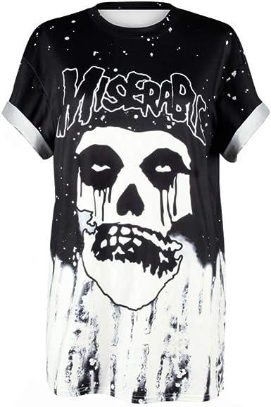 Nueva Camiseta con Estampado de Calaveras de Verano Camiseta de Hombre Camiseta Casual con Estampado Extraterrestre 3D Camisa de Manga Corta de Hip-Hop de Verano: Amazon.es: Ropa y accesorios