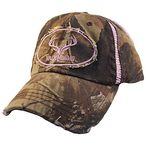 Realtree Hardwood Insert (RackHound Embroidered Ladies Realtree Hardwoods Camo Cap with Mesh)
