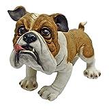 Design Toscano Winston the British Bulldog Statue, Multicolored For Sale
