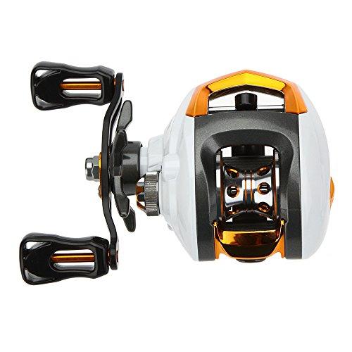 Lixada 12+1 Ball Bearings Baitcasting Reel Fishing Fly High Speed Fishing Reel with Magnetic Brake System