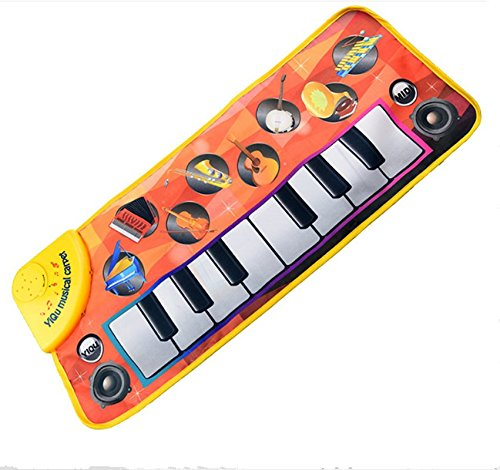 Eyourhappy Baby s Touch Play Keyboard Instrument Musical Singing Gym Carpet Mat Baby Gift Happy E-Shop