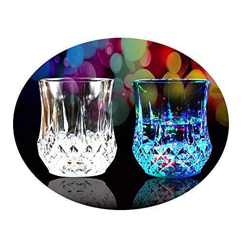 LED Light Up Cups 2win2buy 2 PACK Pineapple Shape Flashing Automatic Water Activated Color Changing Beer Cola Juice Wine Whisky Liquid Drinkware Cups for Bar Disco Night Club Party Halloween Christmas -