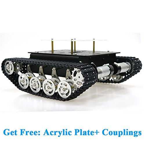 SZDoit Shock Absorption Robot Tank Car Chassis Kit for Arduino Raspberry Pi DIY STEM Education Platform