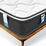 Inofia Double Mattress, Highly-breathable 4FT6 Pocketed Spring Mattress Pressure Relief with Zoned Support 8.7Inch Depth (100 NIGHTS TRIAL)