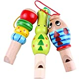 Yimosecoxiang New Popular Children's Toys Wooden Cartoon Animal Whistle Educational Music Instrument Toy Baby Kid Favor