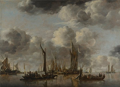 Costumes City Coupon Code (Oil Painting 'Jan Van De Cappelle A Shipping Scene With A Dutch Yacht Firing A Salute ' Printing On Perfect Effect Canvas , 8 X 11 Inch / 20 X 28 Cm ,the Best Hallway Gallery Art And Home Gallery Art And Gifts Is This Replica Art DecorativePrints On Canvas)