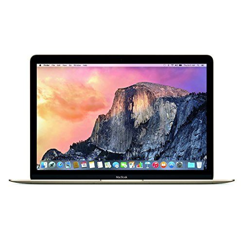 Apple Macbook Retina Display Laptop (12 Inch Full-HD LED Backlit IPS Display, Intel Core M-5Y31 1.1GHz up to 2.4GHz, 8GB RAM, 256GB SSD, Wi-Fi, Bluetooth 4.0) Gold (Refurbished)