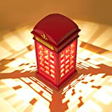 Night Lamp, MECO London Phone Booth Night Light USB Rechargeable Dimmable LED Touch Sensor Table Desk Lamp Sleep Light Adjustable Brightness for Home Bedroom Baby Room Nursery Hallway Decor Christmas Birthday Gift Warm White Light