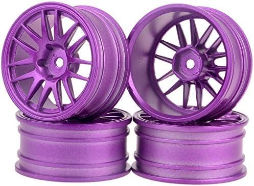 Sangdo 4pcs aluminio rueda Llantas para 1: 10 RC Modelo coche color: morado