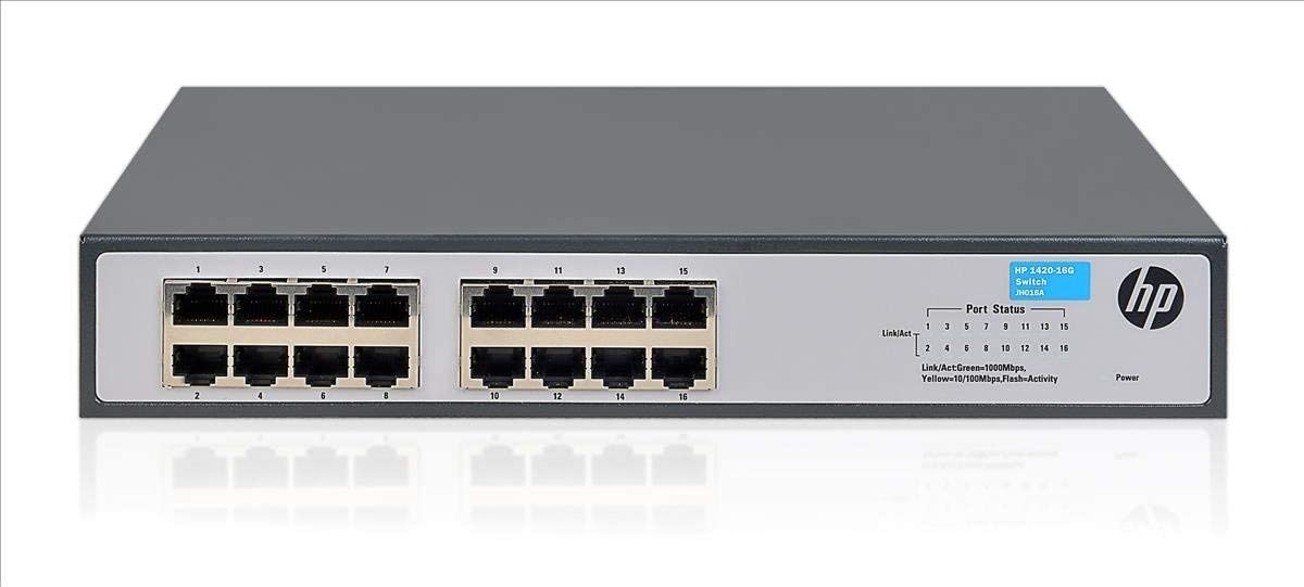 HP 1420-16G OfficeConnect Gigabit Ethernet Switch 16 Ports 10/100/1000 Base-T - Twisted Pairs (Renewed)