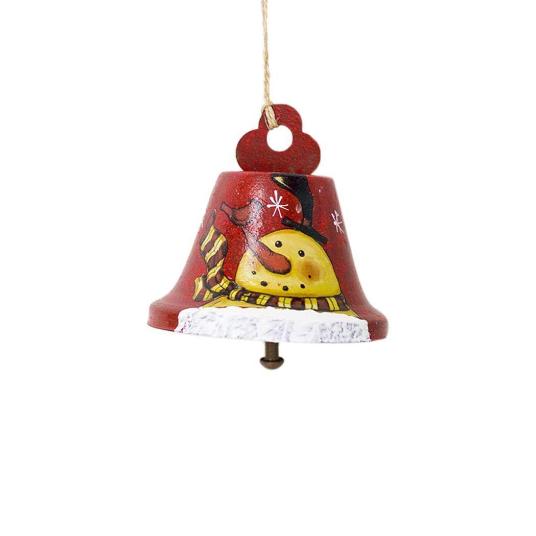 Pairkal Papá Noel Decorativo con Campana Colgantes Colgantes Adornos de Navidad Adornos
