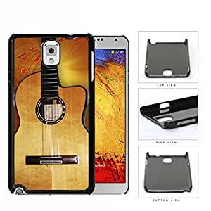 Acoustic Guitar With Music Notes Hard Plastic Snap On Cell Phone Case Samsung Galaxy Note 3 III N9000 N9002 N9005