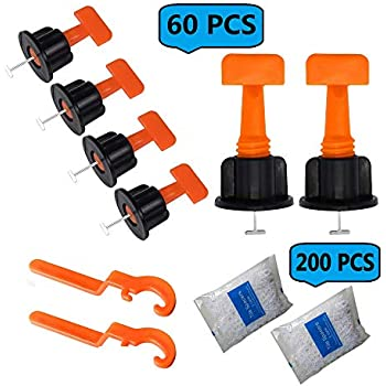 Tile Leveling System 60 Pcs Tiles Leveler Spacers With 2