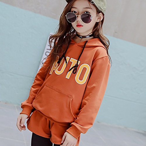 M&A Girls Hoodie and Pants 2 Piece Clothing Set Tracksuit for 3-13T by M&A (Image #4)