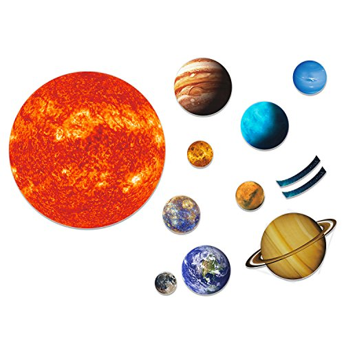 Giant Magnetic Solar System with 12 Individual Briefing Magnets.Perfect for Toddlers and Kids. (24 (Kids Learn Solar System)