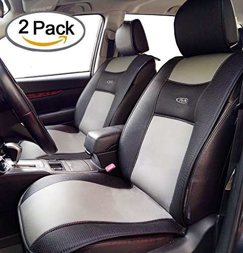 Breathable 2 Pcs Universal Car Seat Cushion Covers By Big Ant For Car Truck Suv Or Van   Best Protector Seats Mat For Driver Child  Baby Chair Pet   Non Slip Rubber Soled   Black Gray