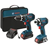 Bosch CLPK234-181 18-V Lithium-Ion 2-Tool Combo Kit Drill/Driver & Impact Driver