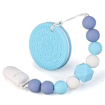 Anillos de agarre para bebé, sin BPA, de silicona, con clip para ...
