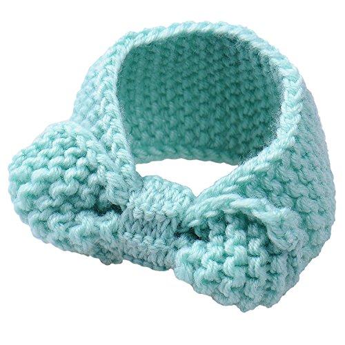 Tuerca Y Yo zusammenpassende turbante cinta manera Baby Strickendes arco Cinta Set azul azul: Amazon.es: Bebé