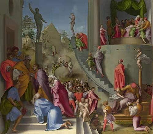 Steve Art Gallery Joseph with Jacob in Egypt,Pontormo,50x44cm: Amazon.es: Hogar