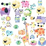 RoomMates RMK1181SCS Polka Dot Piggy Peel and Stick Wall Decals